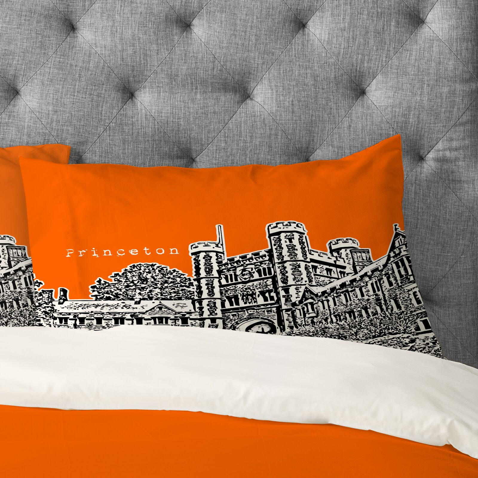 Bird Ave Princeton University Pillowcase Size: Standard