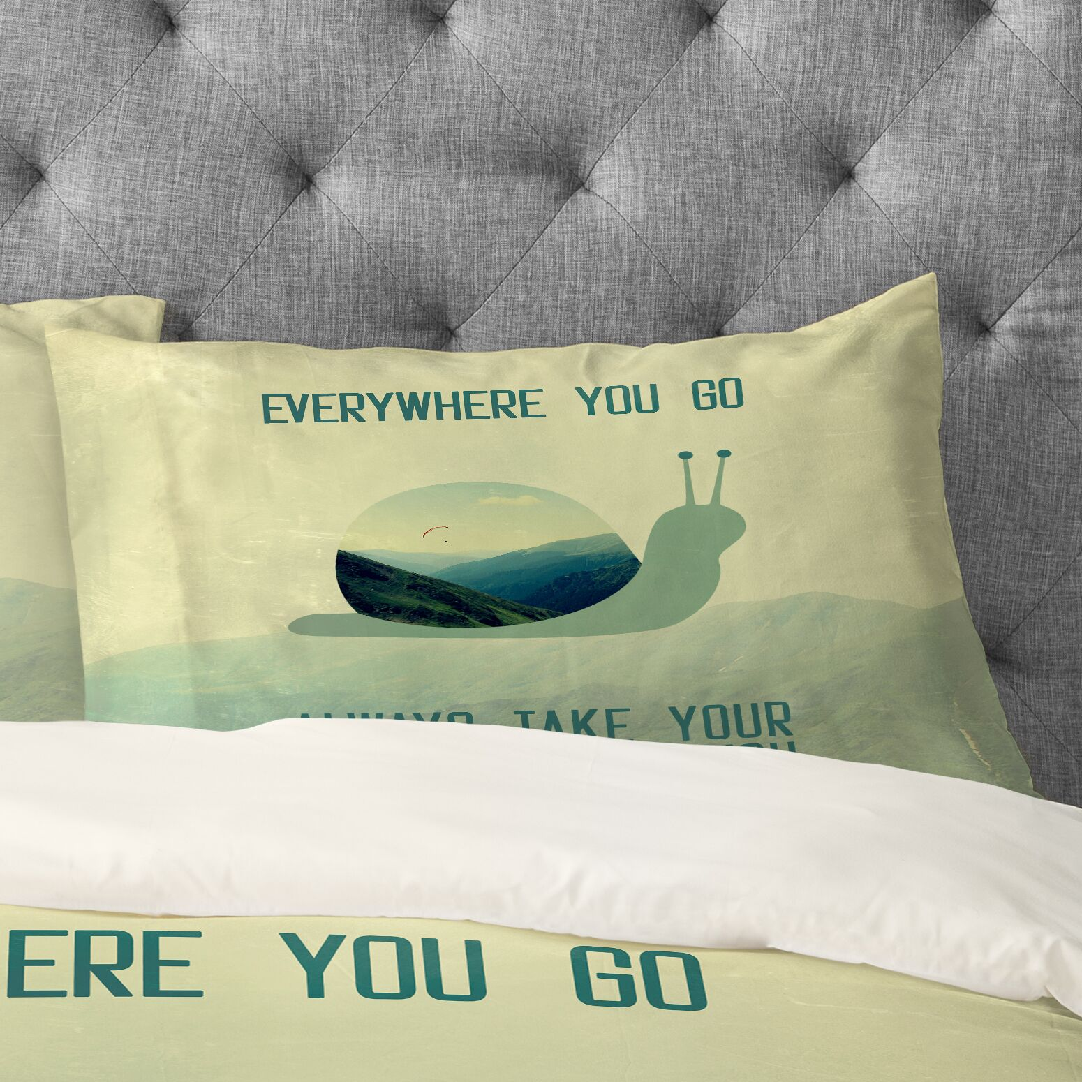 Always Take Your Dreams With You Pillow Case Size: King