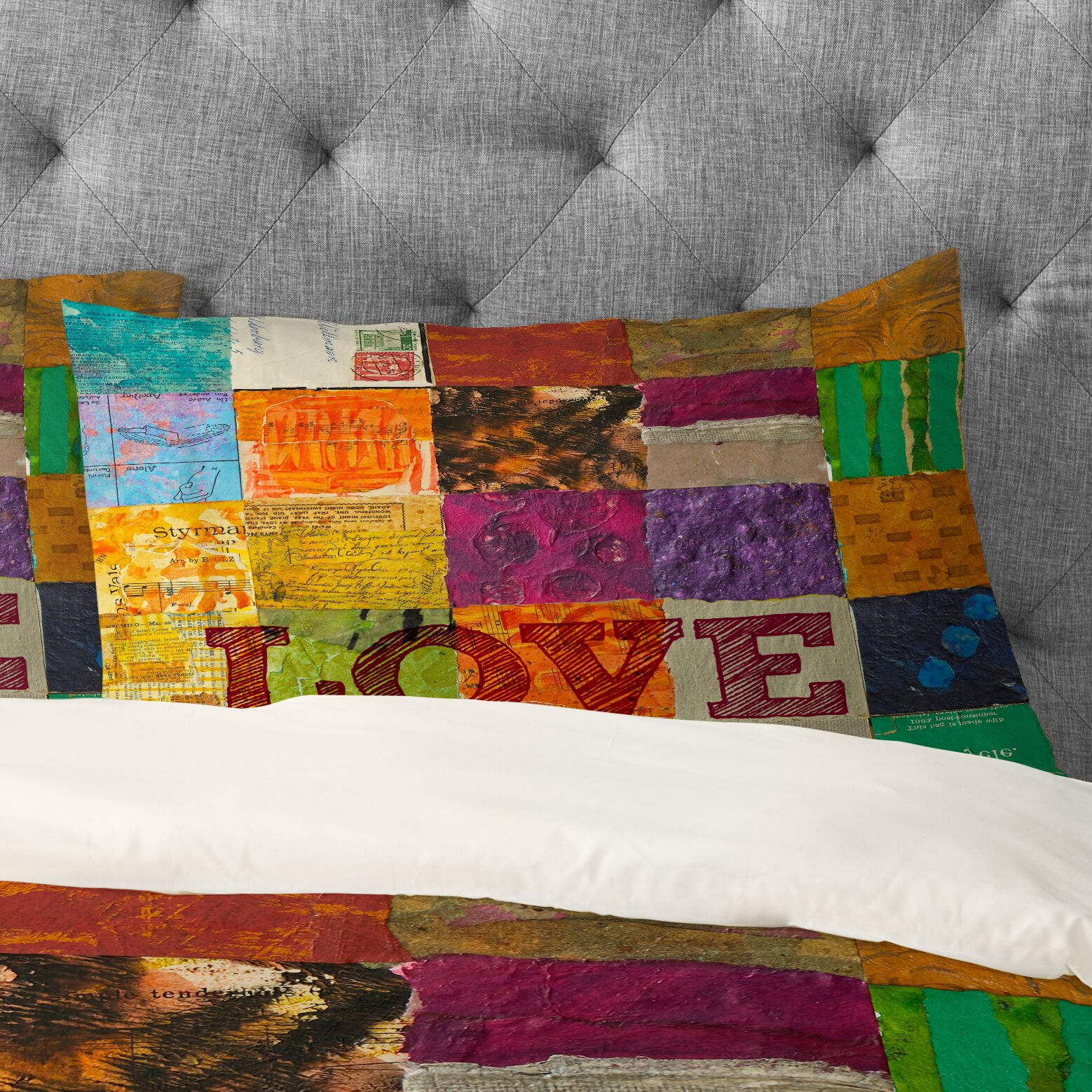 Elizabeth St Hilaire Nelson Love Pillowcase Size: King