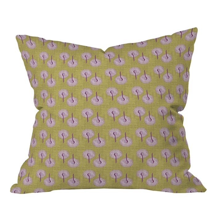 Caroline Okun Aspergillus Outdoor Throw Pillow Size: 20