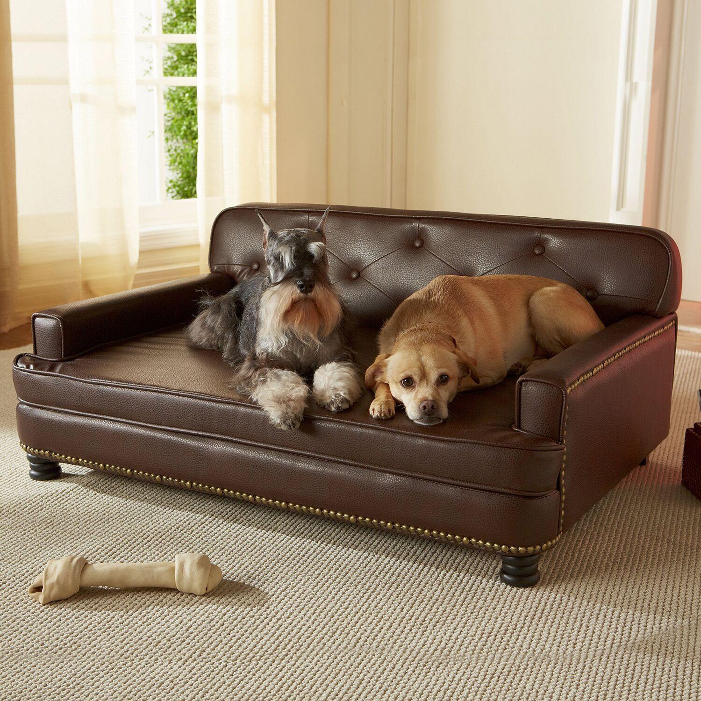 Consuelo Dog Sofa Color: Brown
