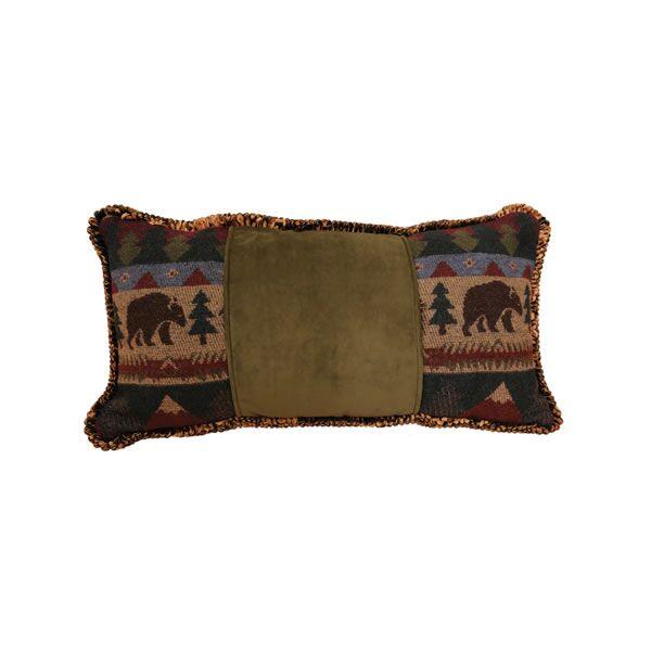 Cabin Bear Cord Throw Pillow