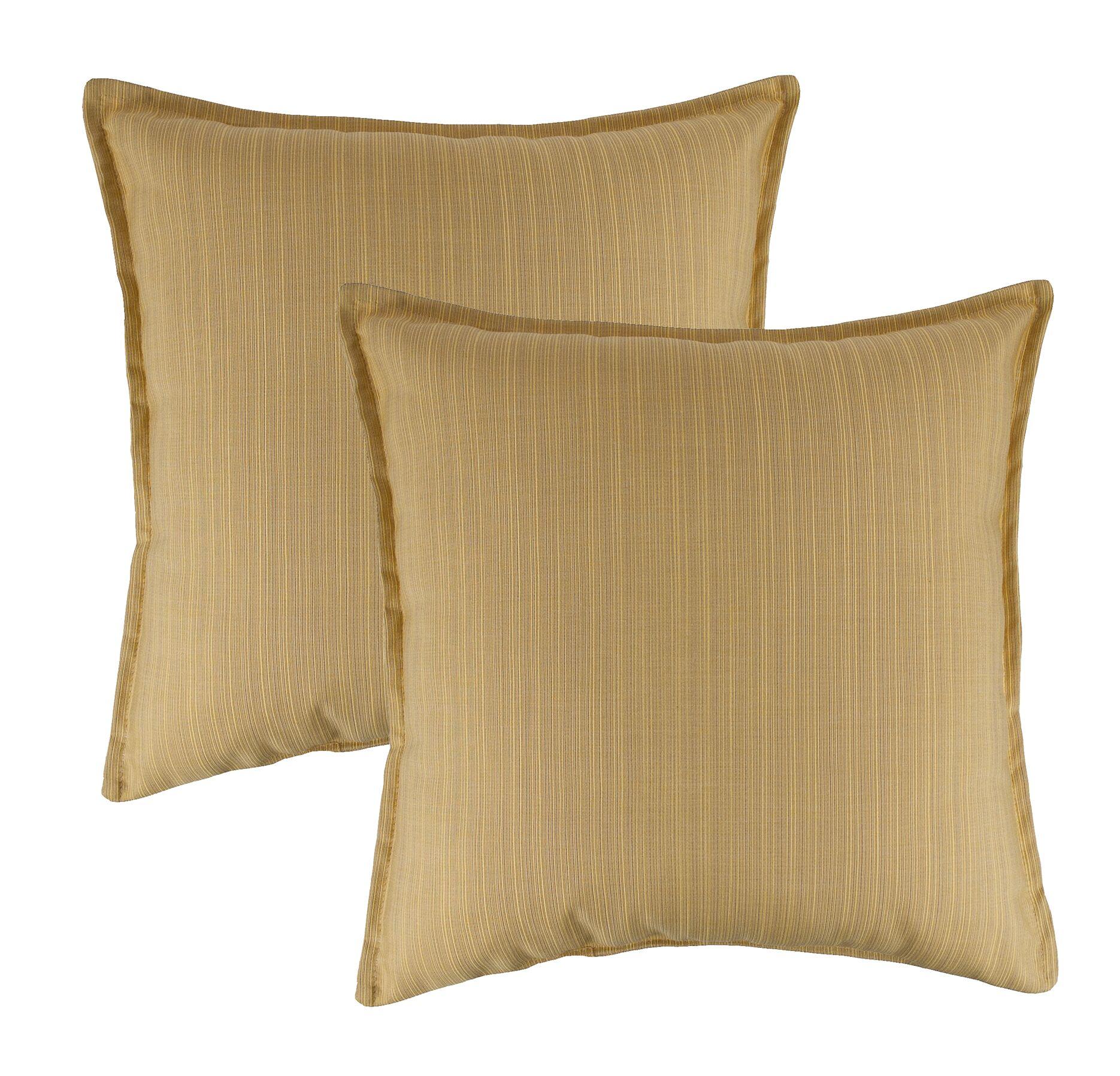 Dupione Outdoor Sunbrella Throw Pillow