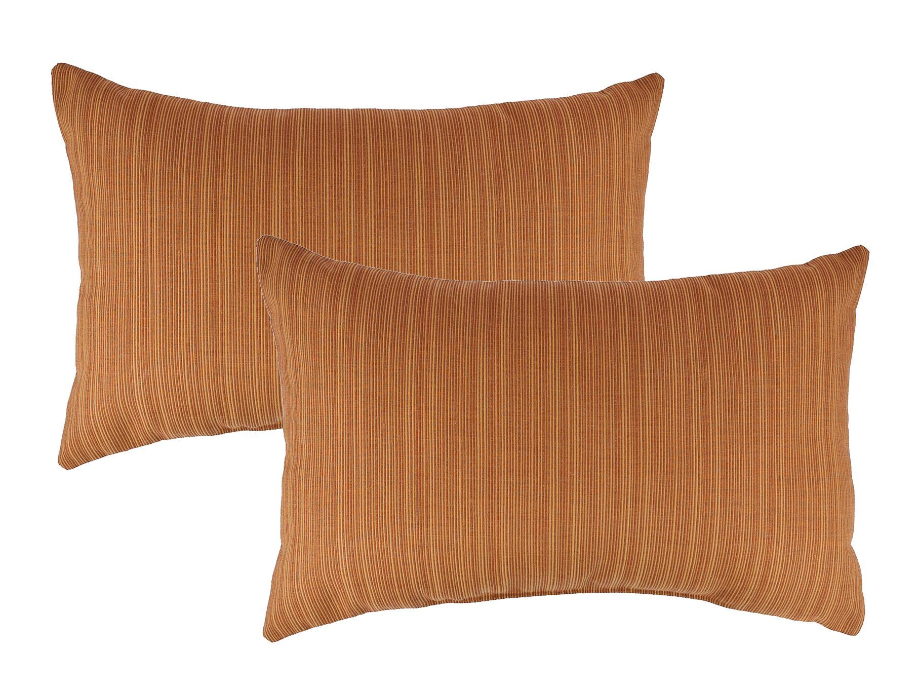 Dupione Outdoor Sunbrella Lumbar Pillow