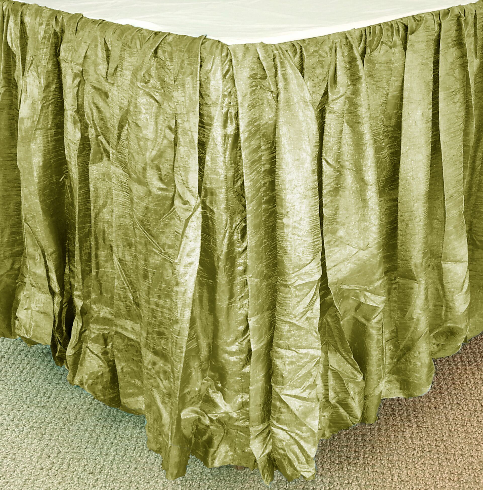 Balloon Bed Skirt Color: Thyme, Size: Twin XL