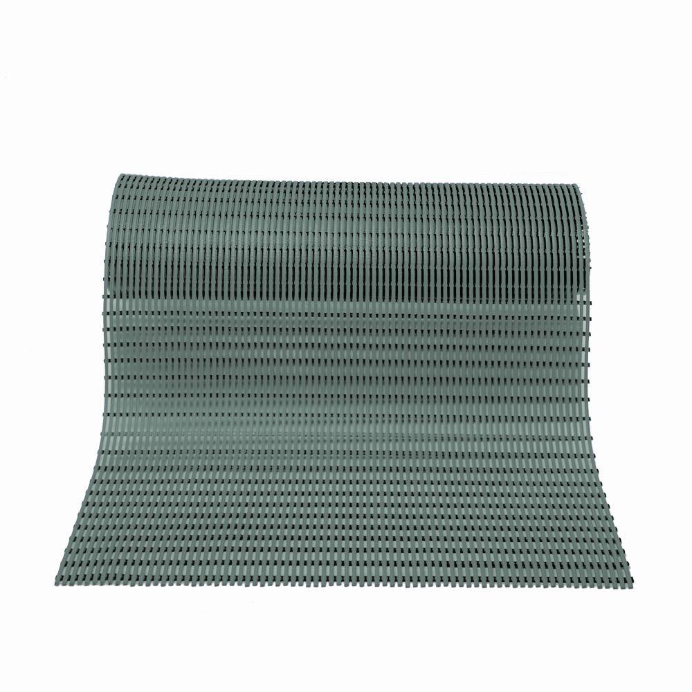 World's Best Barefoot Anti-Slip Doormat Mat Size: Rectangle 3' x 30', Color: Grey