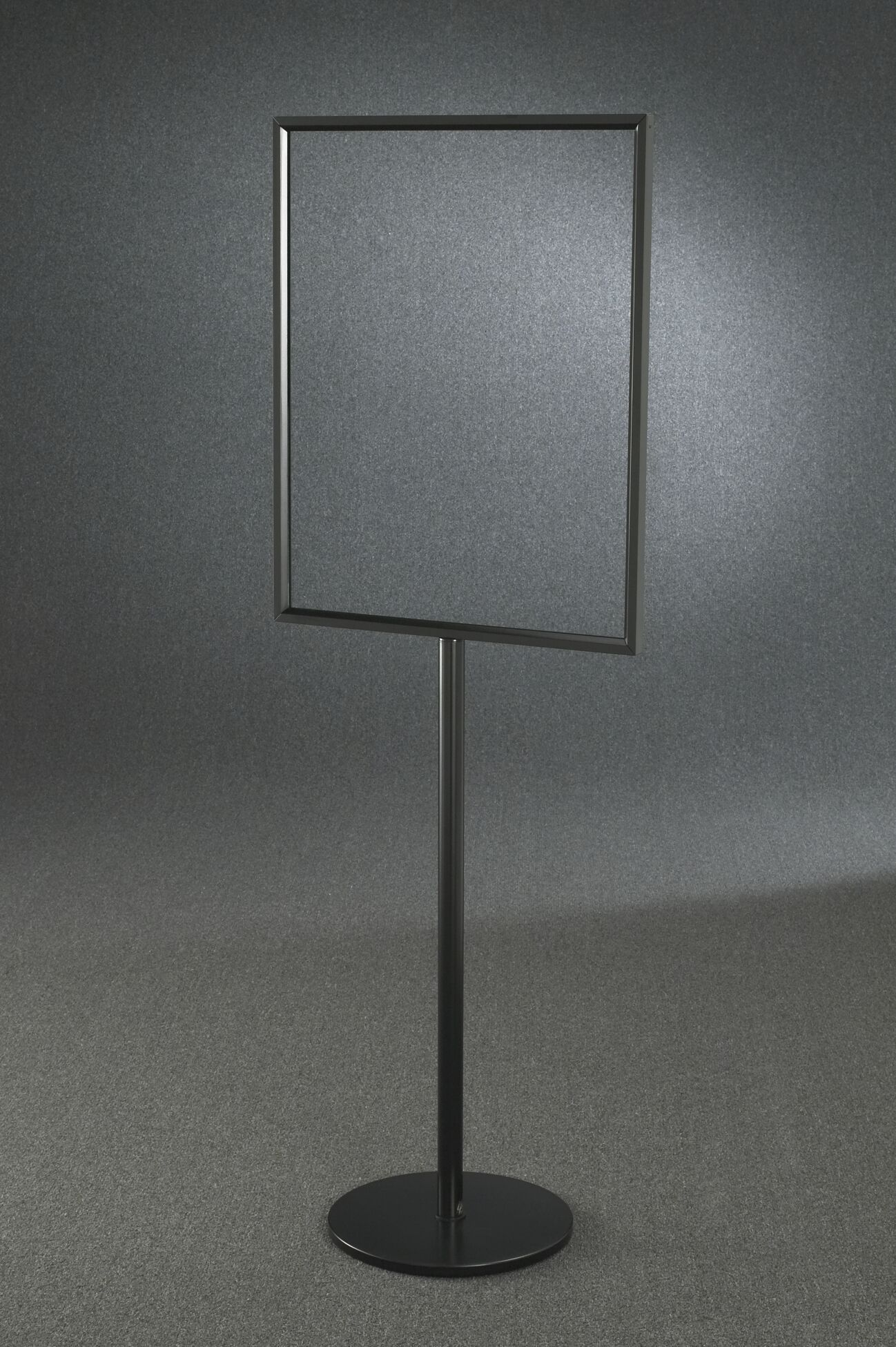 Standard Floor Standing Sign Frame Stand Finish: Satin Black, Size: 65