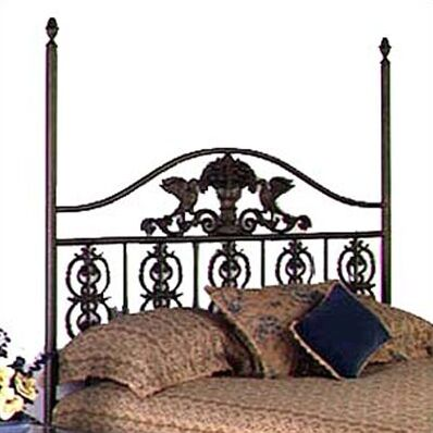 Harvest Open-Frame Headboard Color: Burnished Copper, Size: Queen