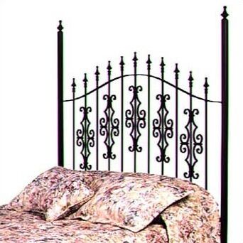 Alise Gate Slat Headboard Color: Aged Iron, Size: King