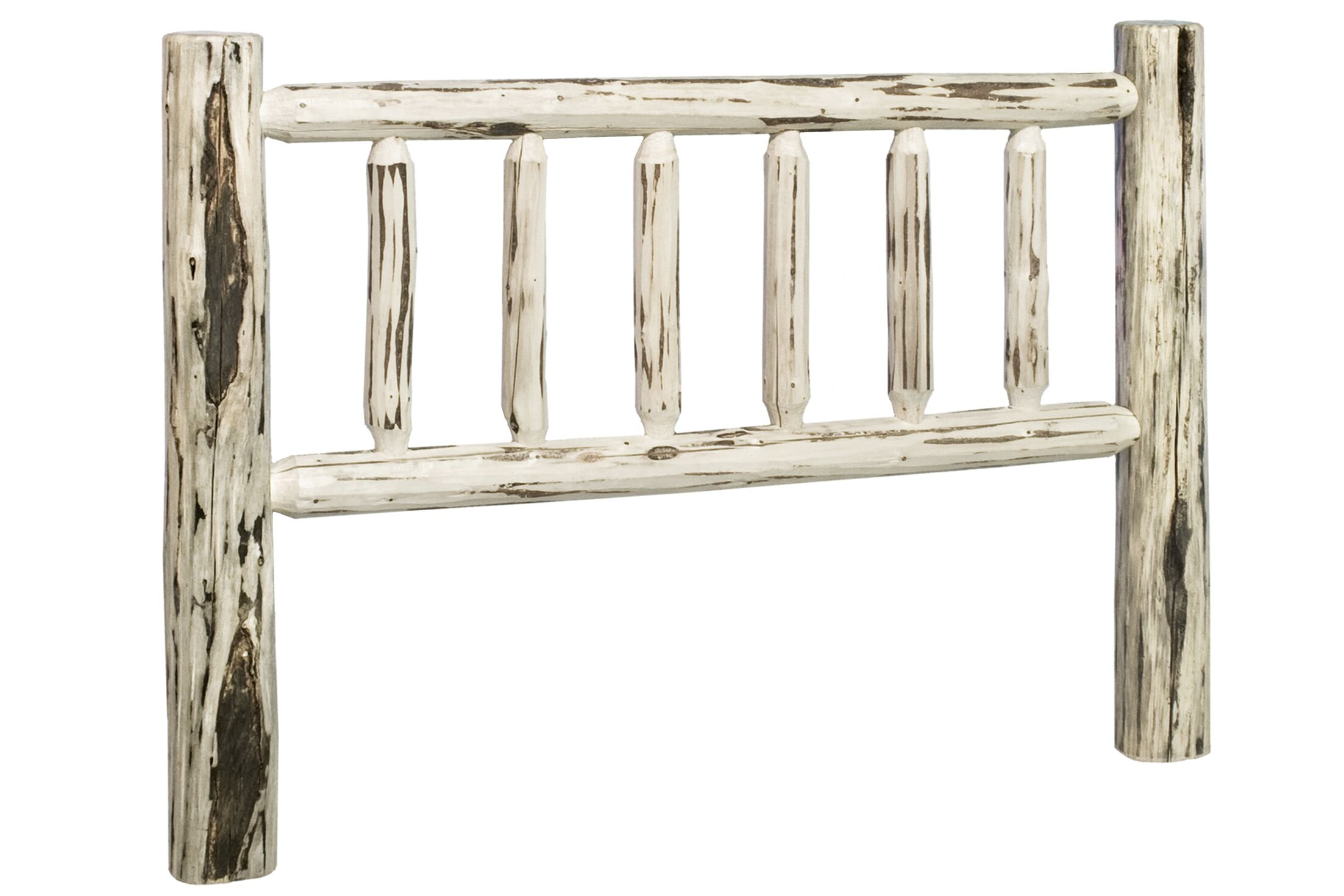 Abordale Log Slat Headboard Color: Lacquered, Size: Full
