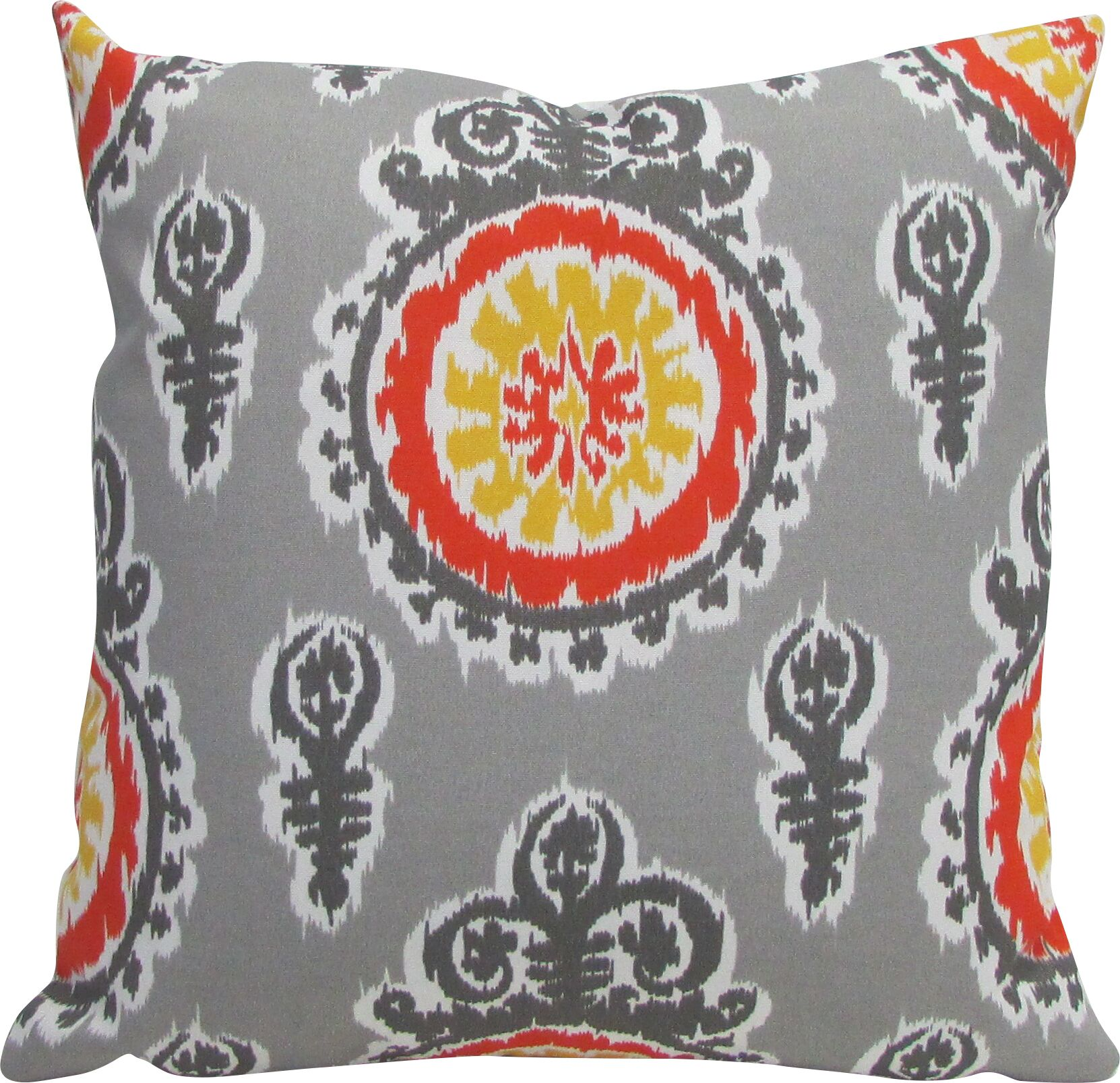 Outdoor Living Throw Pillow (Set of 2) Color: Yellow, Size: 18