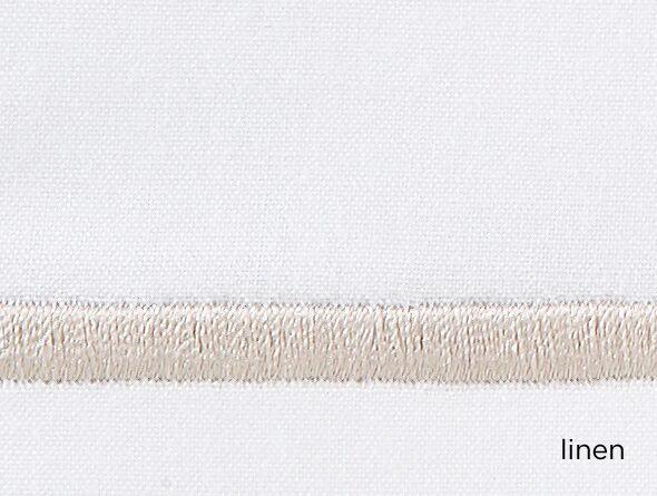 Boutique 200 Thread Count 100% Cotton Flat Sheet Color: Linen, Size: Twin