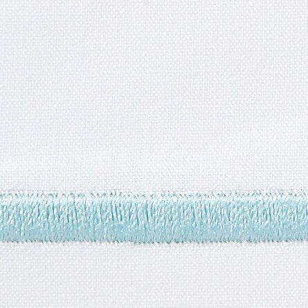 Melody 420 Thread Count Egyptian-Quality Cotton Flat Sheet Color: Sea Glass, Size: Queen