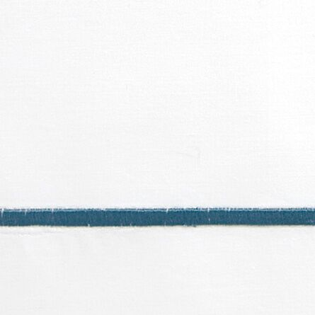 Concerto 420 Thread Count Flat Sheet Color: Indigo, Size: King
