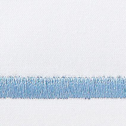 Concerto 420 Thread Count Flat Sheet Color: Copen Blue, Size: Queen