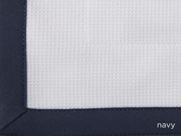 Pique Cotton Bed Rest Pillow Color: Navy