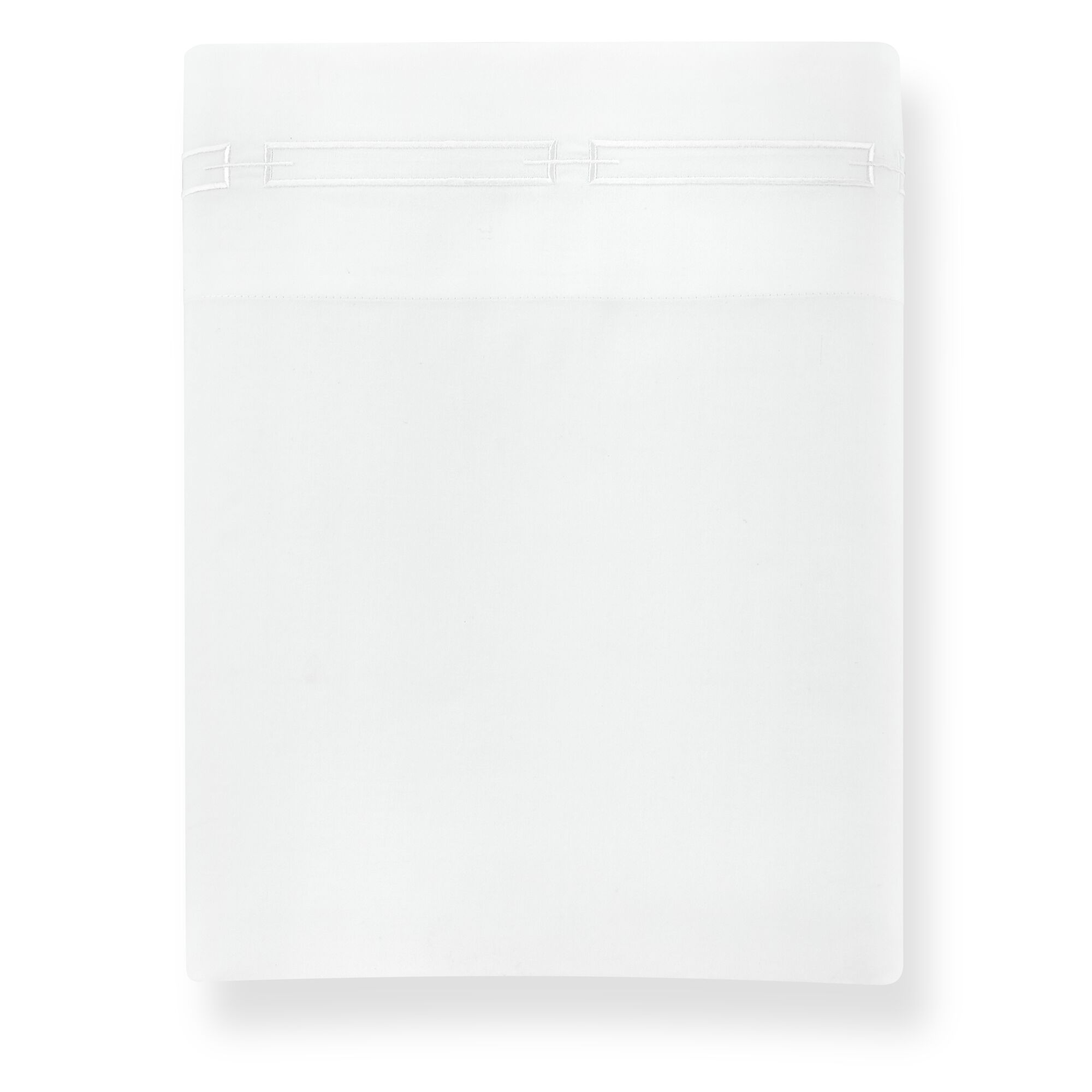 Stanza 420 Thread Count Egyptian-Quality Cotton Flat Sheet Color: White, Size: King