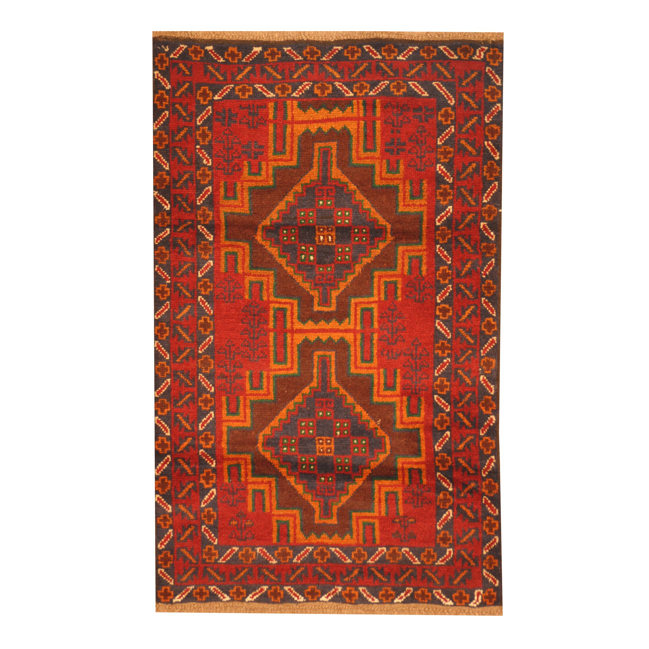 Prentice Hand-Knotted Red/Orange Area Rug