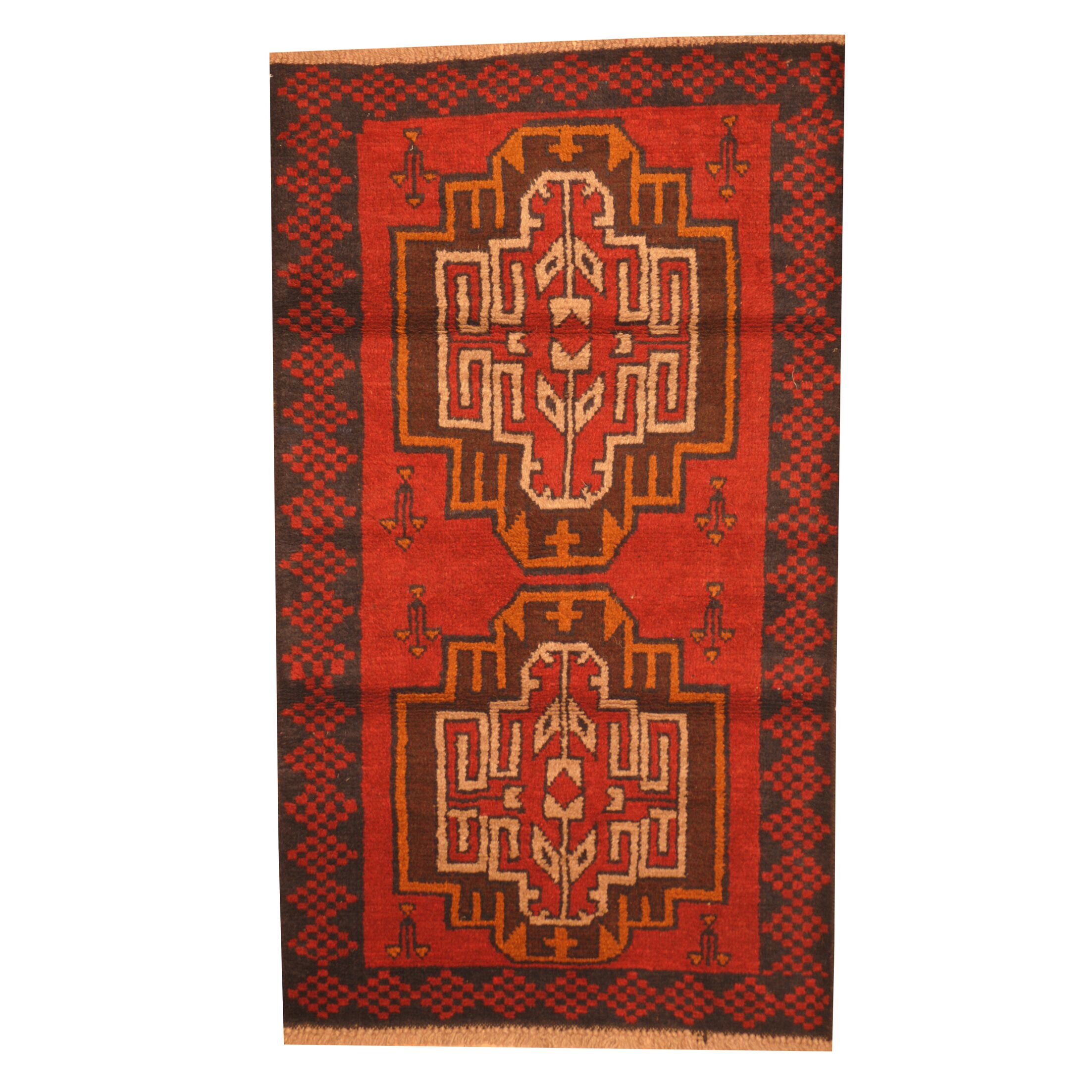 Prentice Hand-Knotted Red Area Rug