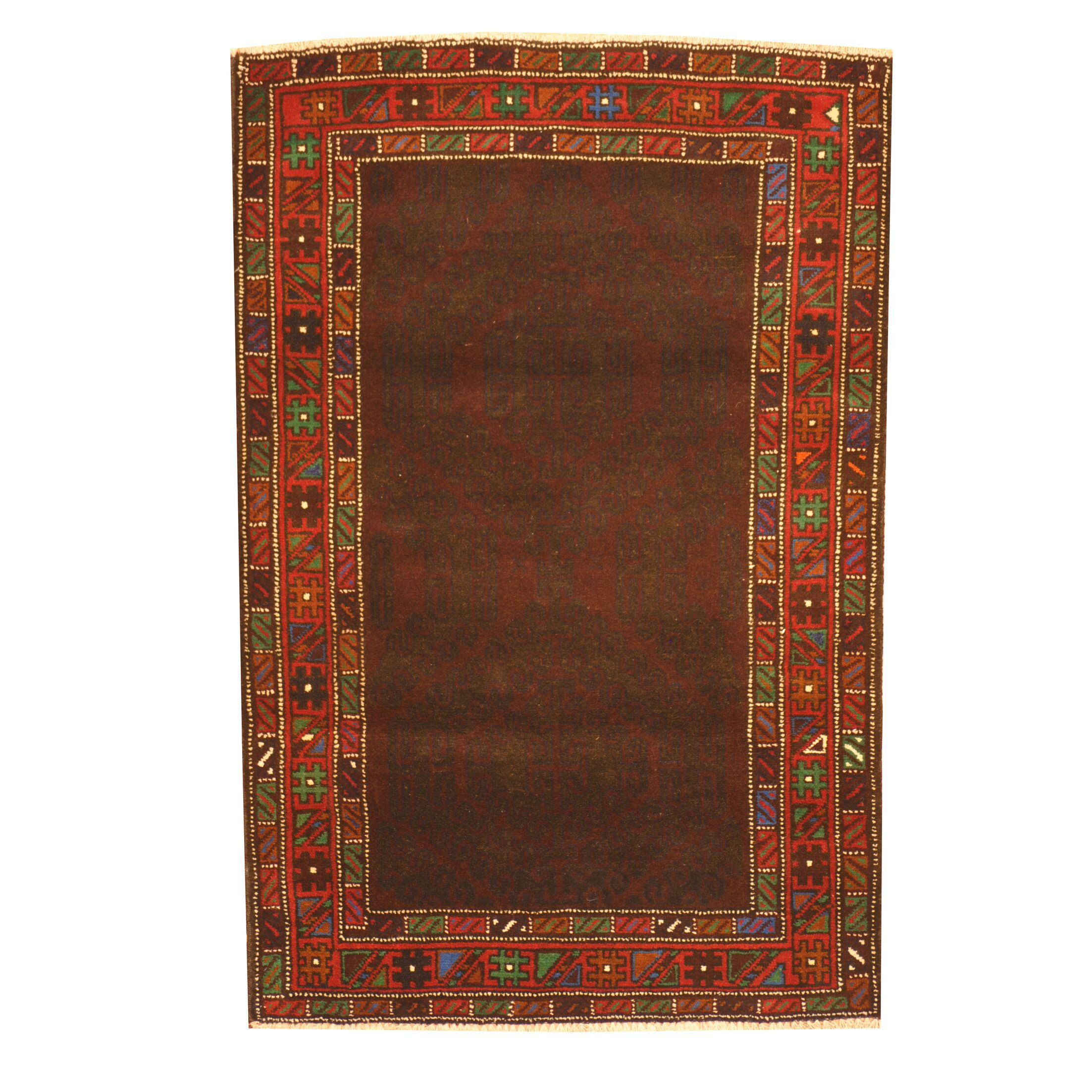 Prentice Hand-Knotted Brown Area Rug