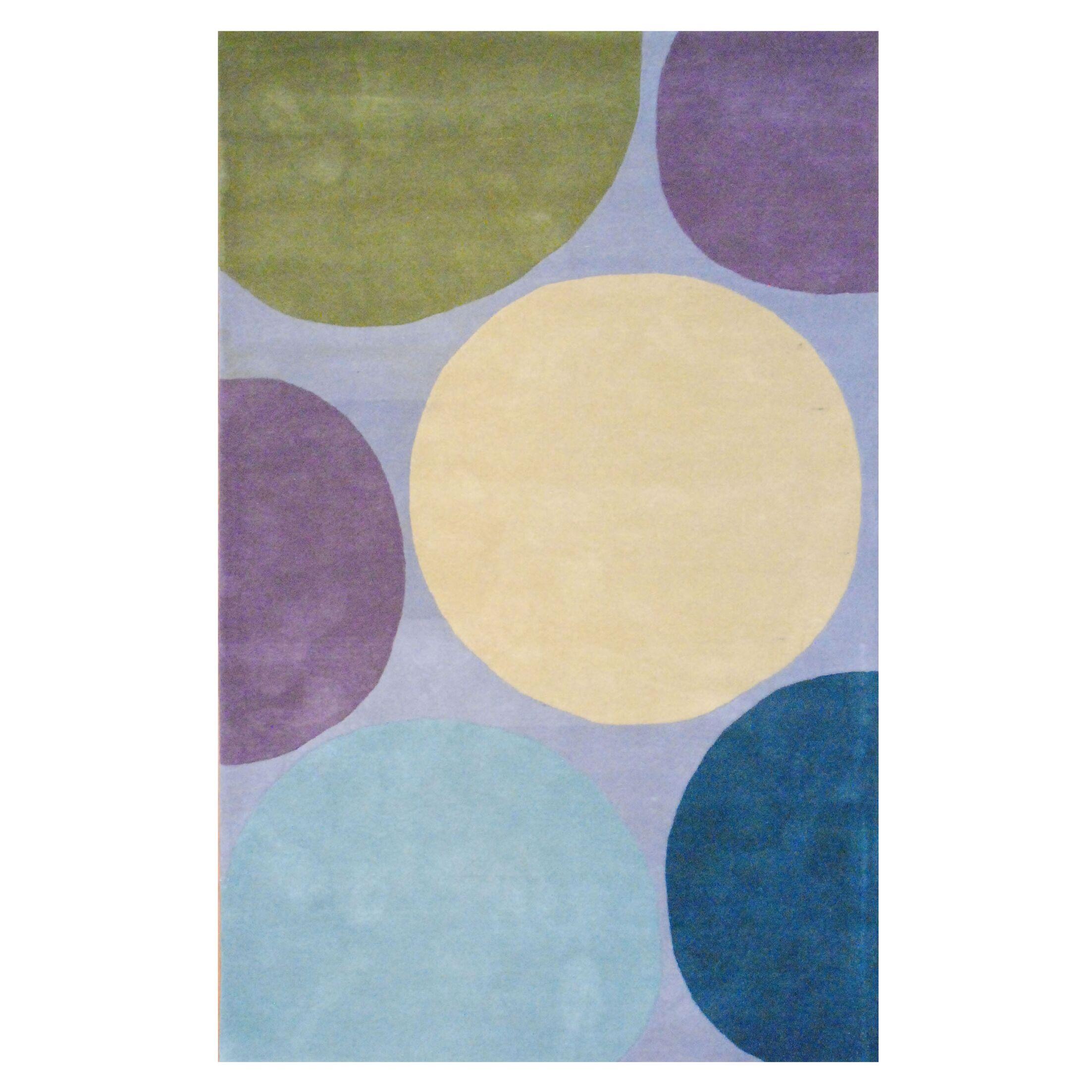 Hand-Tufted Gray/Purple Area Rug