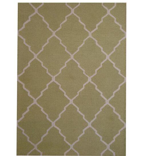 Hand-Tufted Light Green/Beige Indoor Area Rug