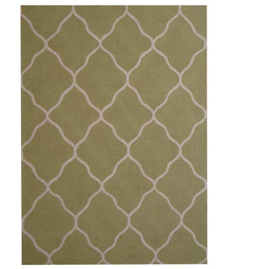 Hand-Tufted Light Green/Ivory Indoor Area Rug