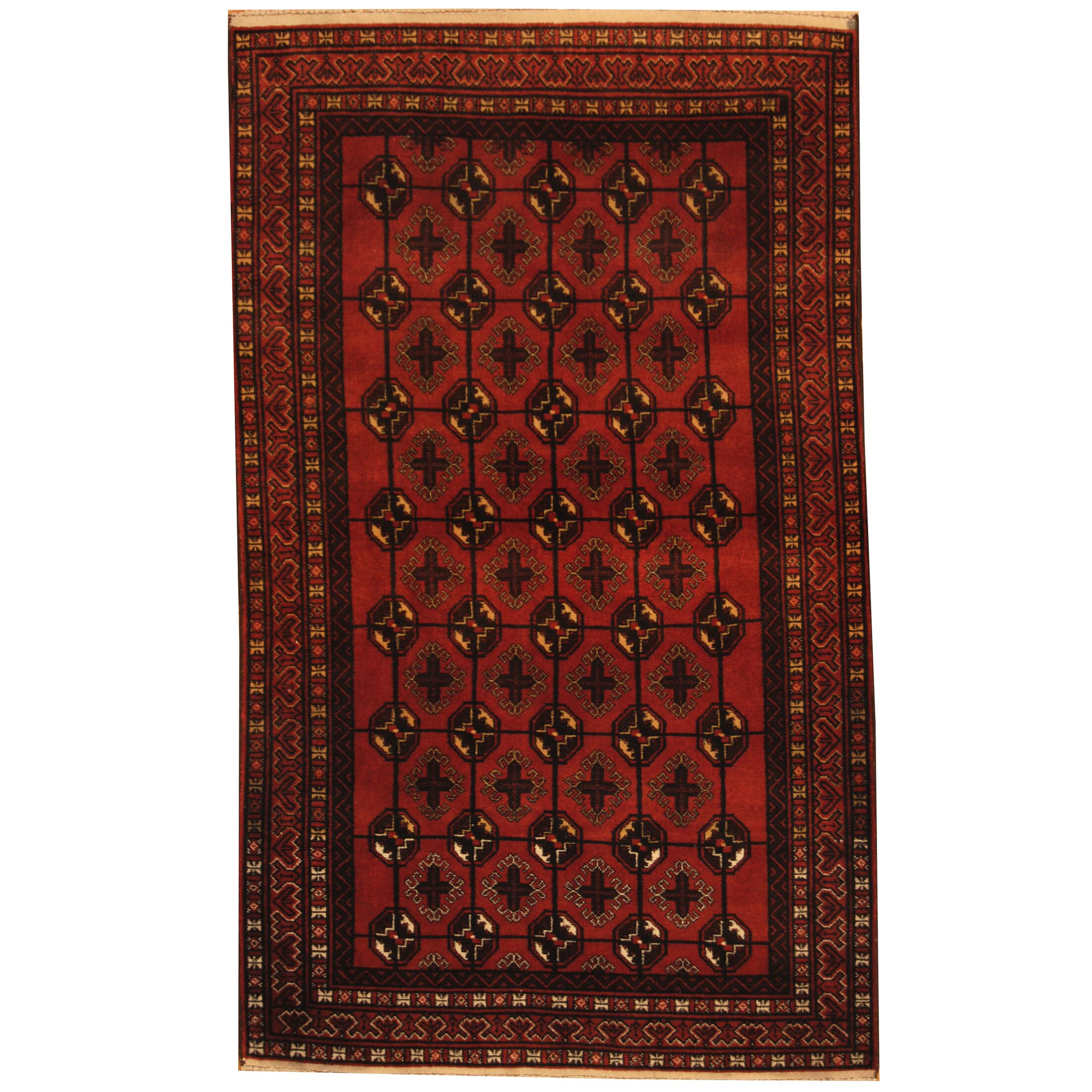 Prentice Tribal Balouchi Hand-Knotted Rust/Brown Area Rug