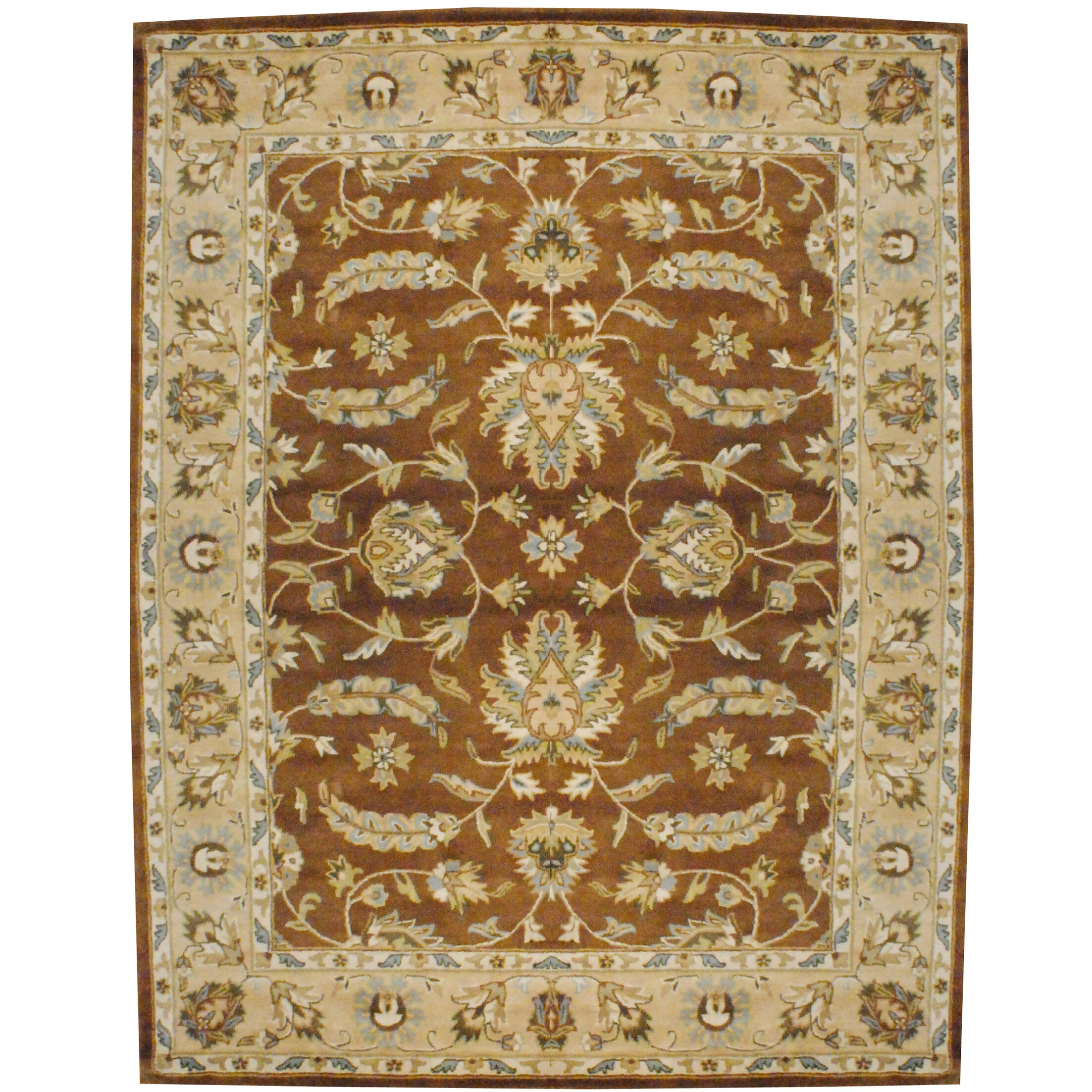 Hand-Tufted Wool Brown/Beige Area Rug Rug Size: Rectangle 8' x 10'