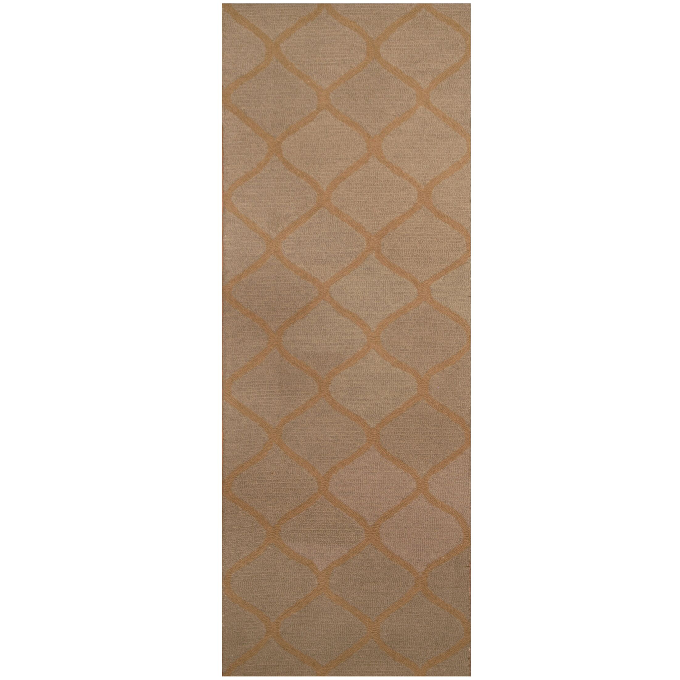 Hand-Tufted Light Gray/Light Brown Area Rug