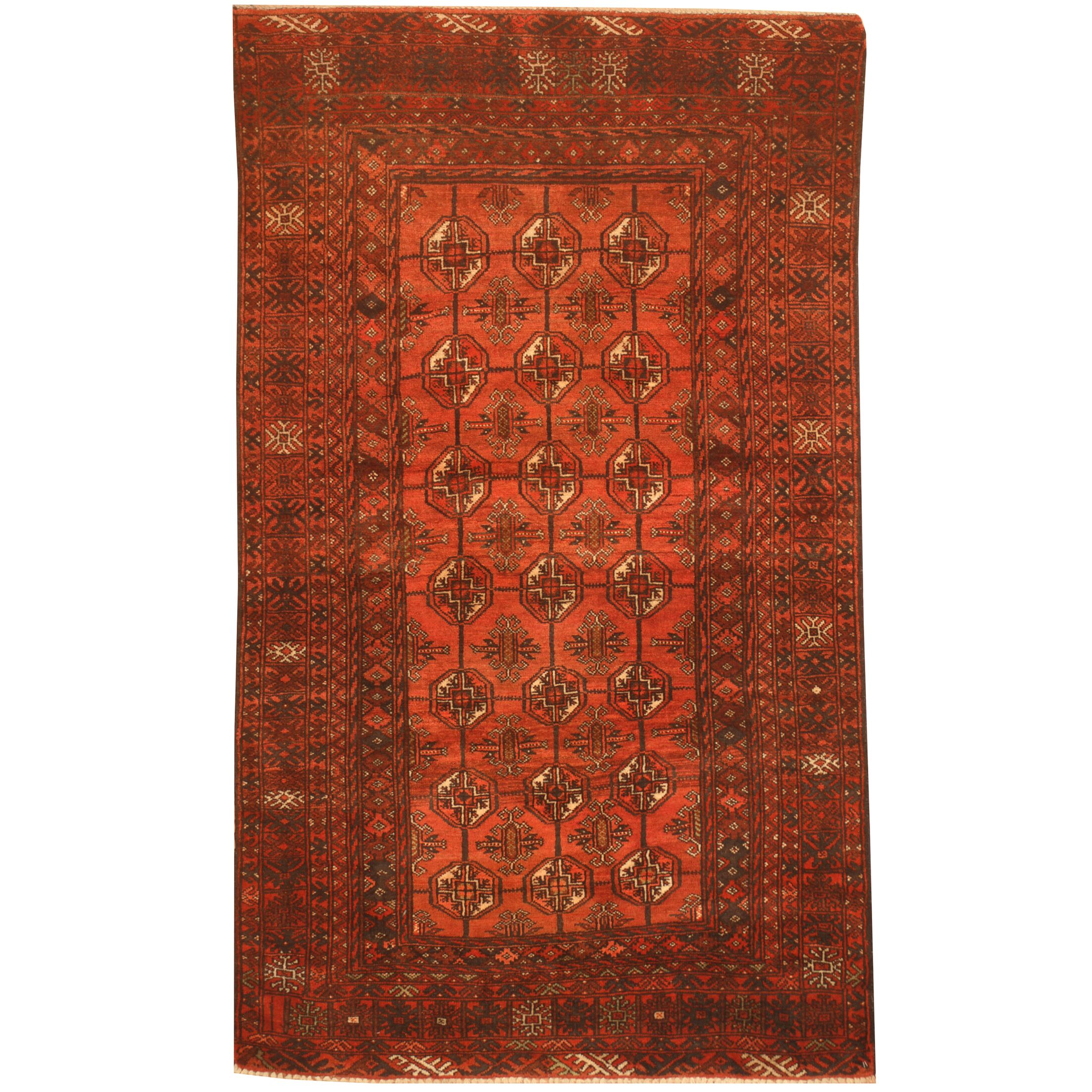 Prentice Hand-Knotted Salmon/Navy Area Rug