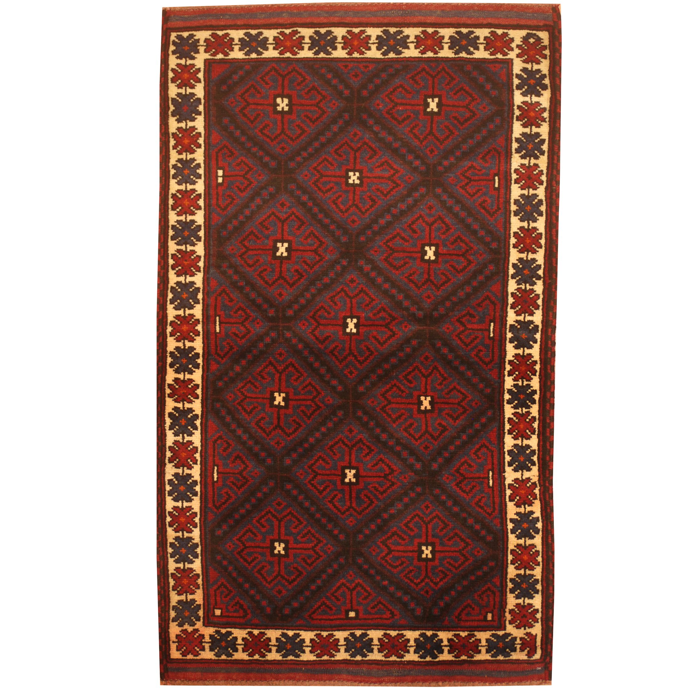 Prentice Hand-Knotted Blue/Ivory Area Rug