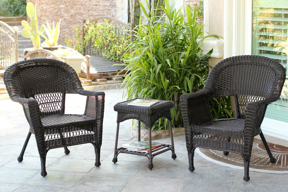 Burrough 3 Piece Conversation Set Color: Espresso