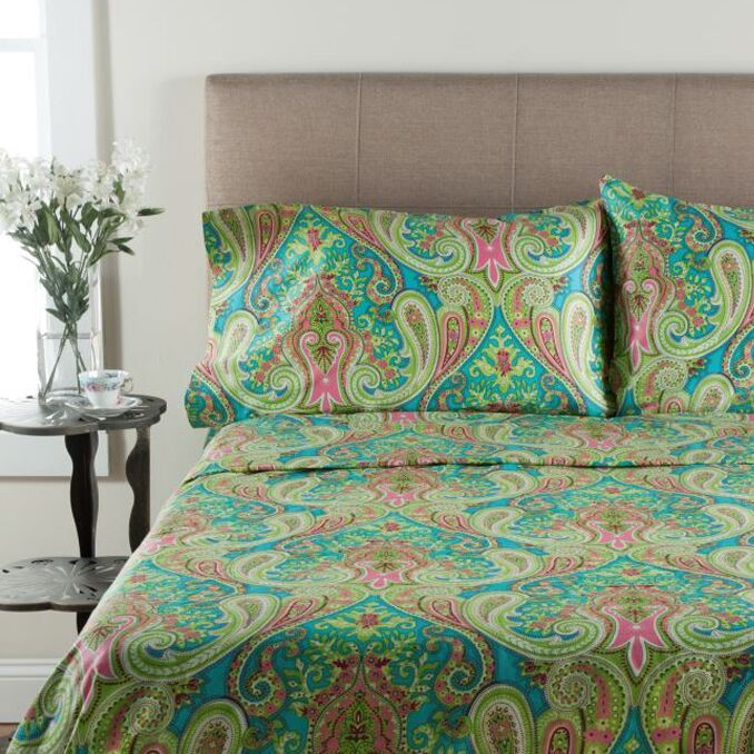 T300 Thread Count 100% Cotton Sheet Set Color: Multi, Size: Full