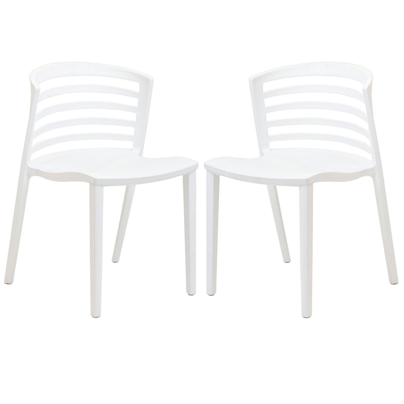 Predmore Plastic Side Chair Color: White