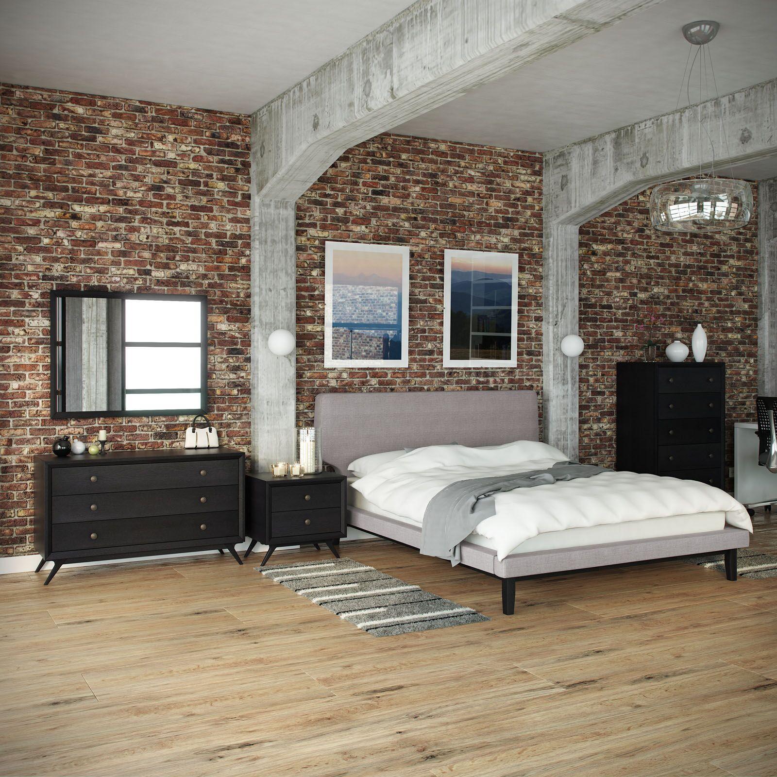 Bethany Queen Platform 4 Piece Bedroom Set Color: Grey