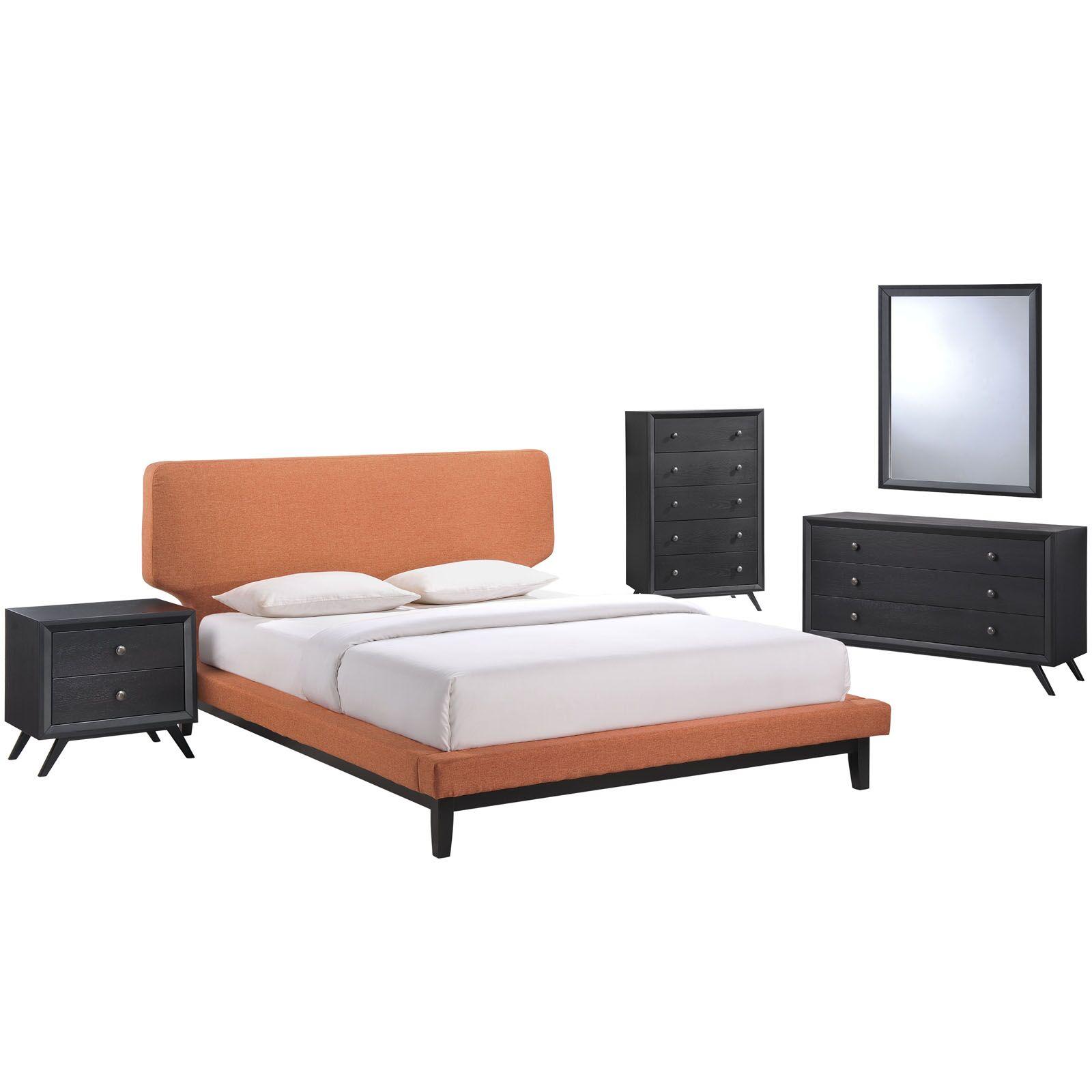 Bethany Queen Platform 5 Piece Bedroom Set