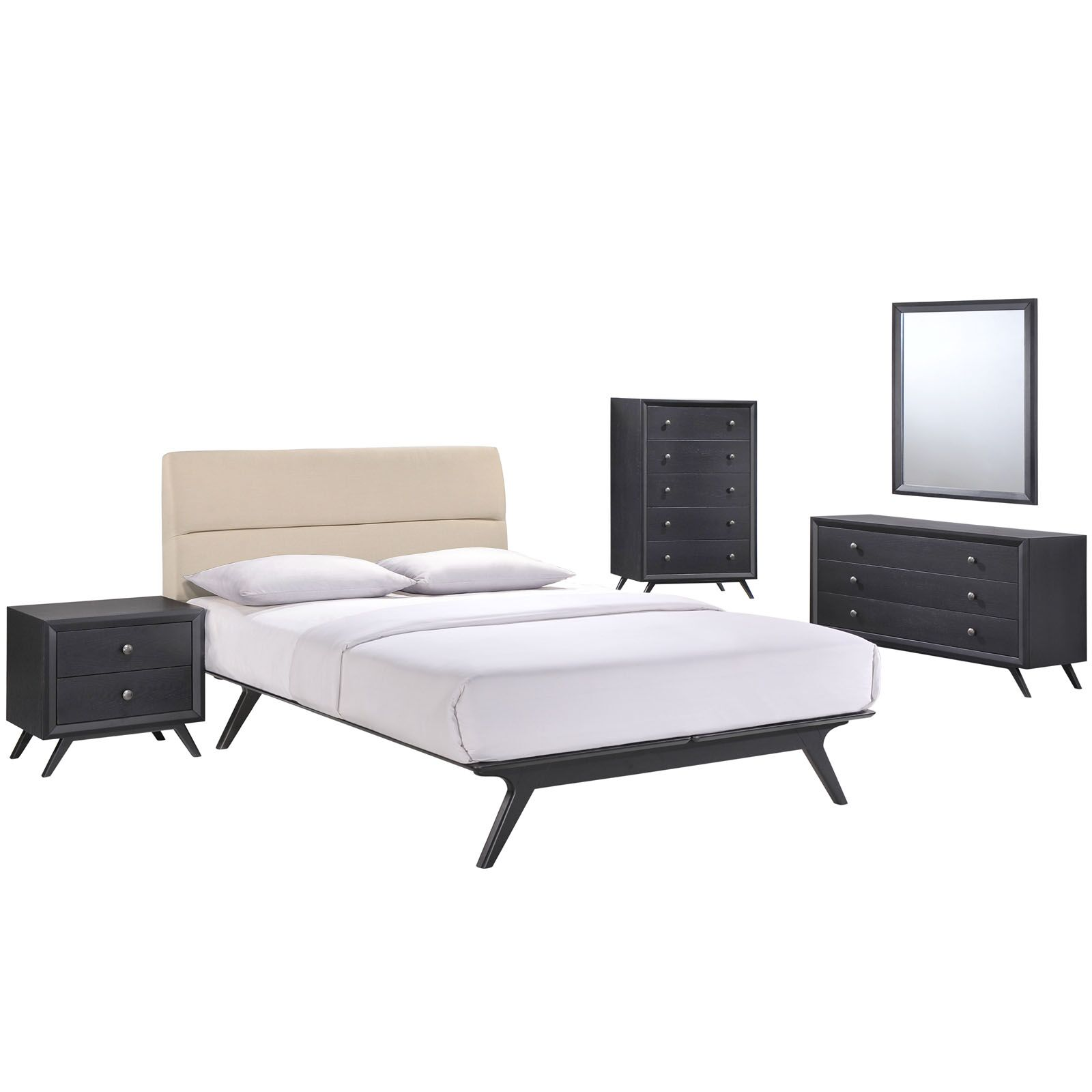 Nashua Queen Platform 5 Piece Bedroom Set Finish: Beige
