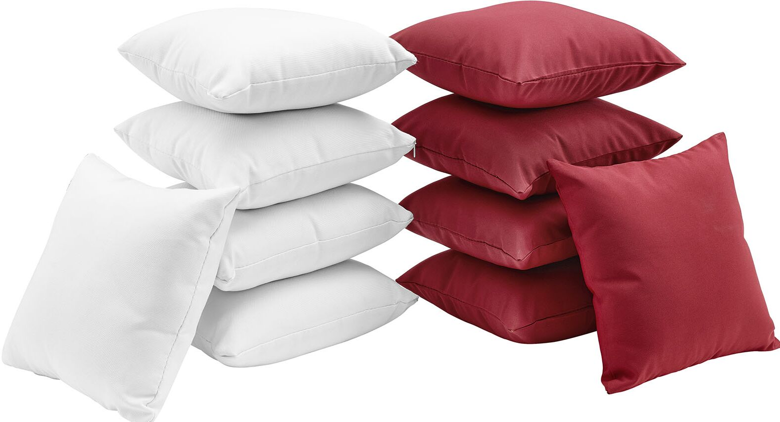 Convene 10 Piece Outdoor Throw Pillow Set Color: White/Red