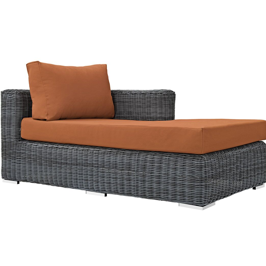 Keiran Right Arm Chaise Sectional Piece with Cushions Fabric: Tuscan