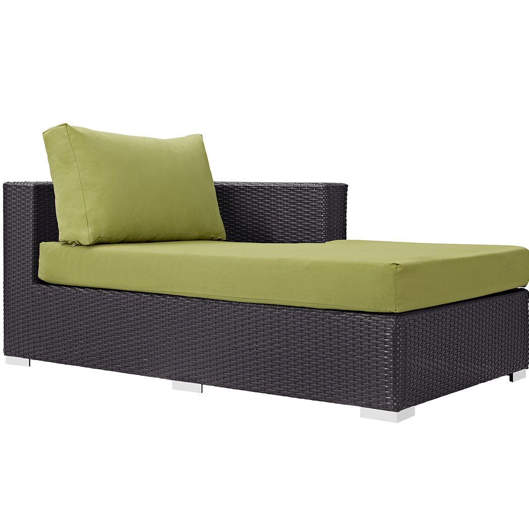 Ryele Right Arm Chaise Sectional Piece with Cushions Fabric: Peridot