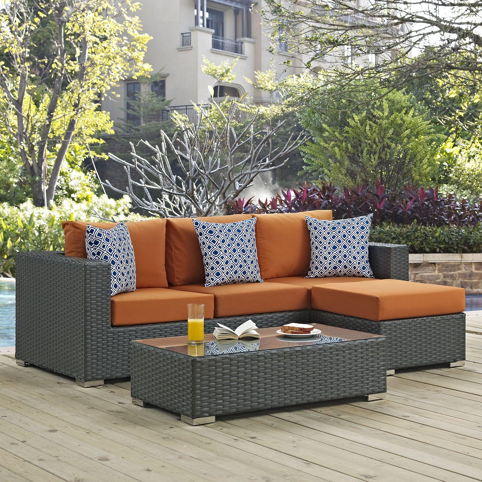 Tripp 3 Piece Sunbrella Sofa Set with Cushions Fabric: Tuscan