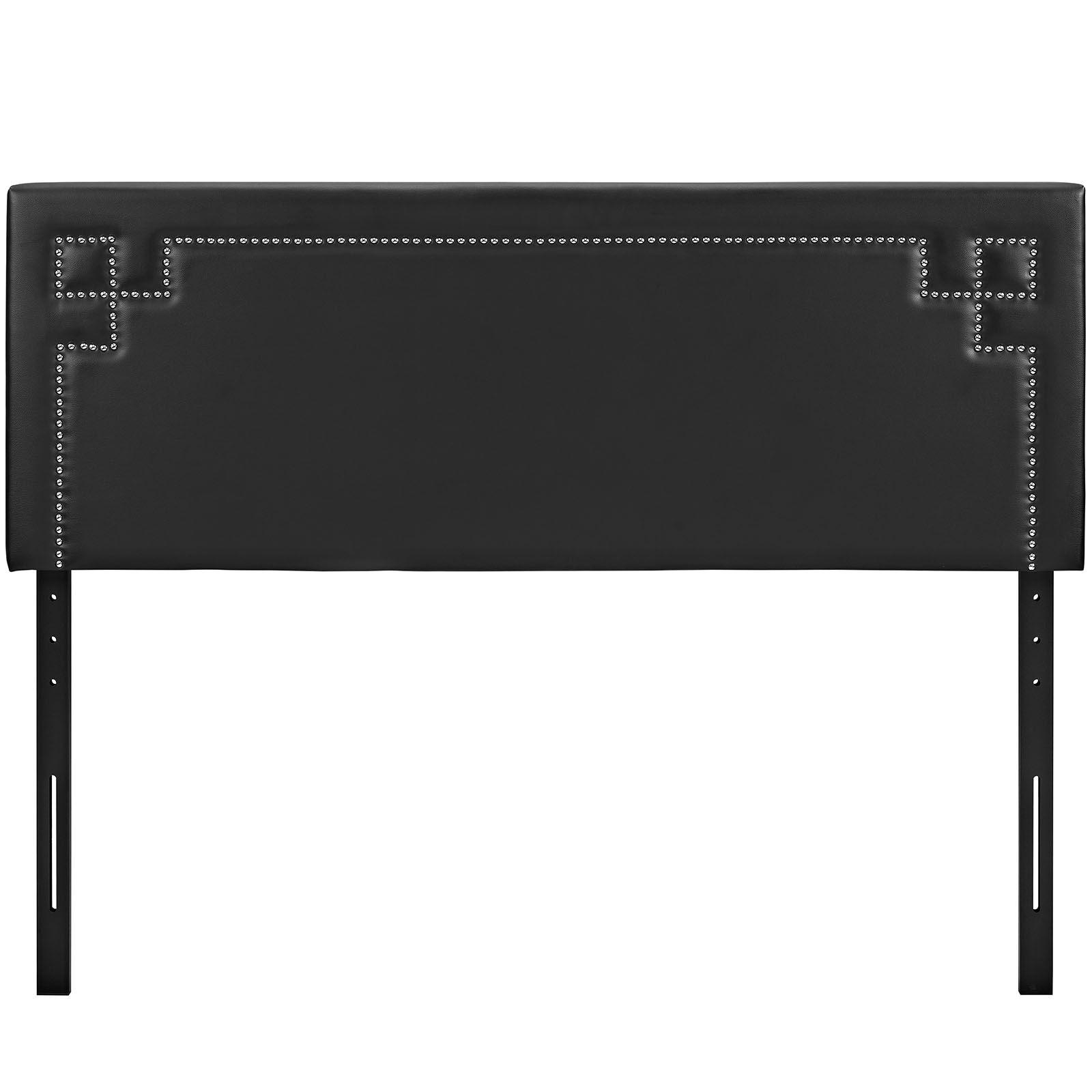 Kerley Upholstered Panel Headboard Size: Full, Upholstery: Black