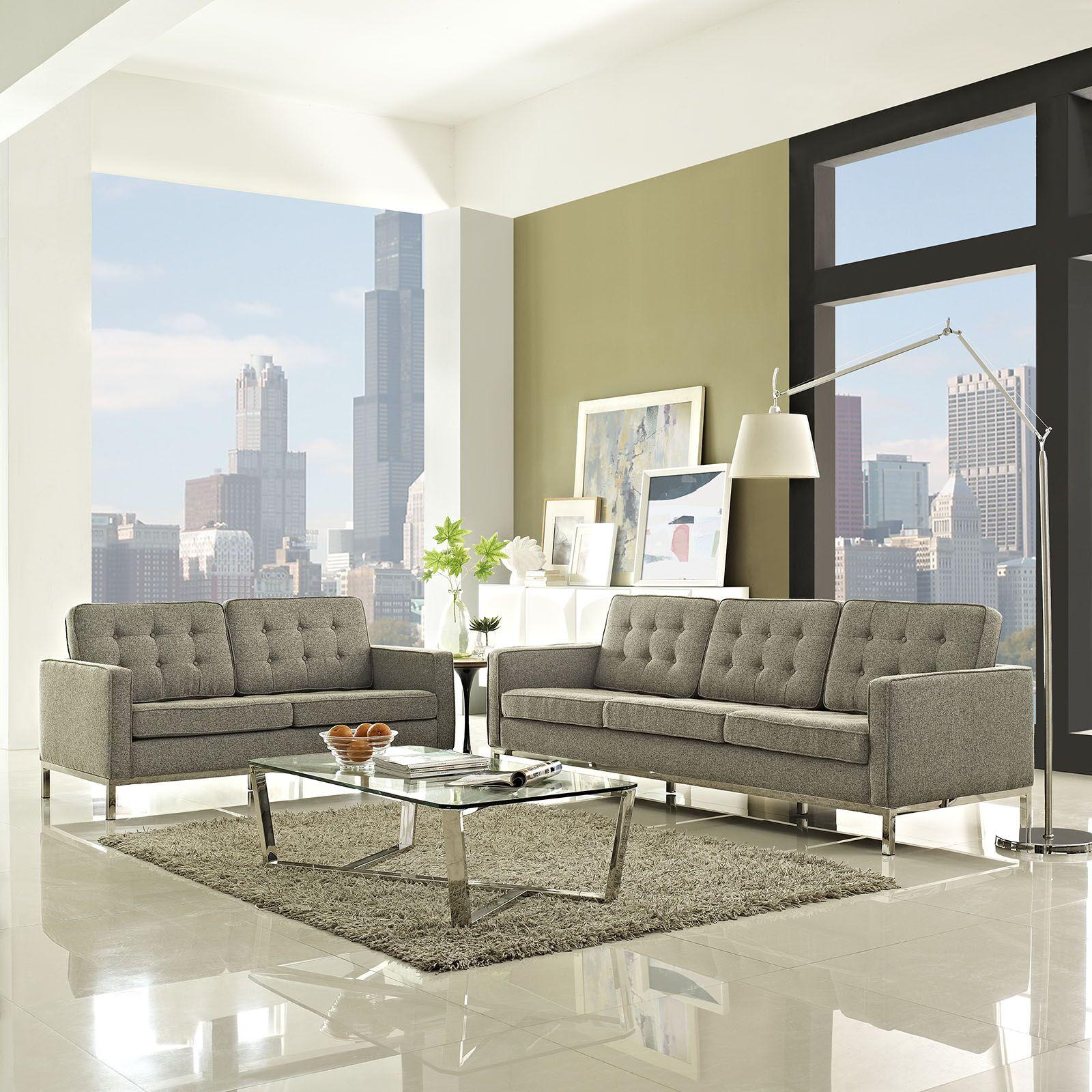 Gayatri 2 Piece Living Room Set Upholstery: Oatmeal