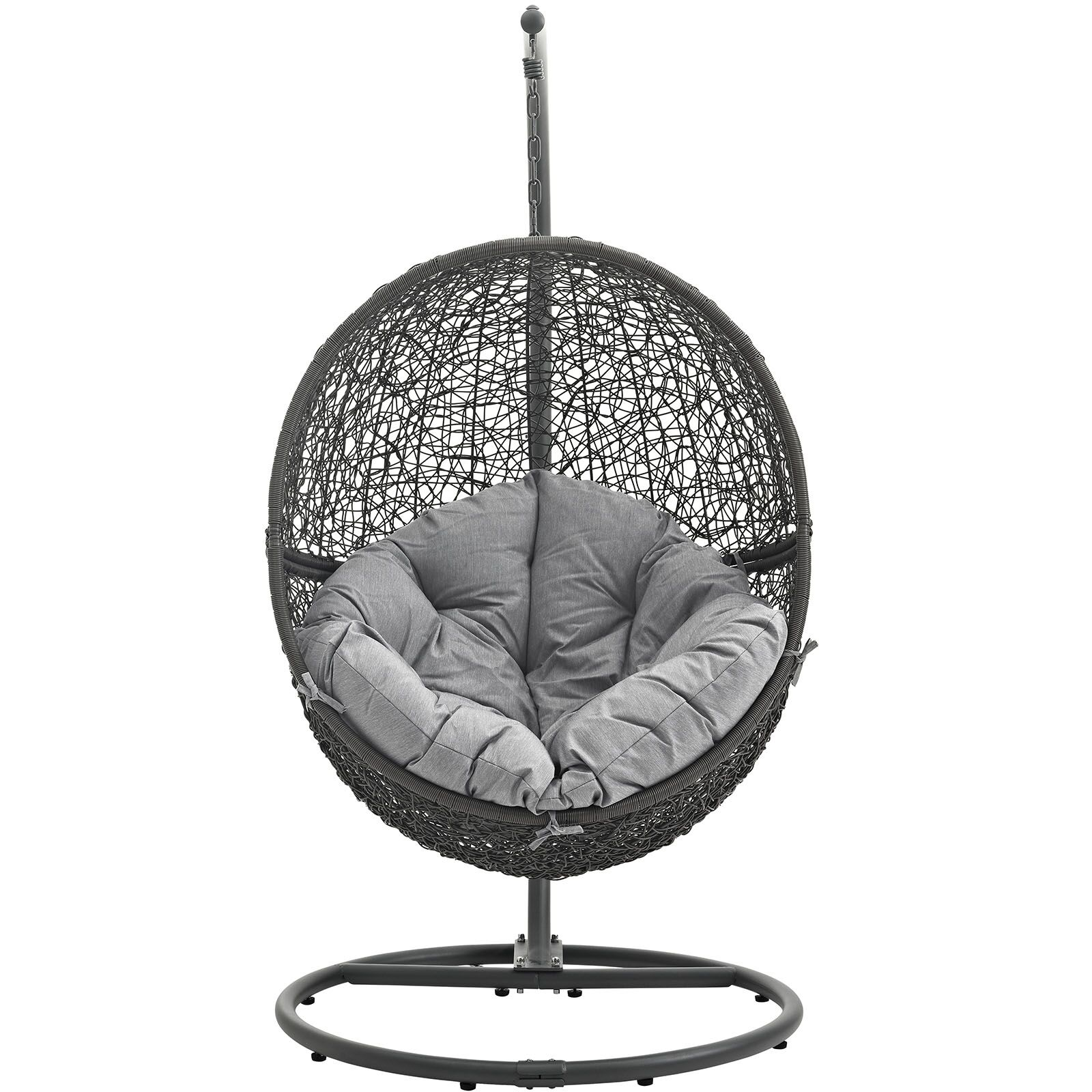 Valletta Swing Chair with Stand Color: Gray