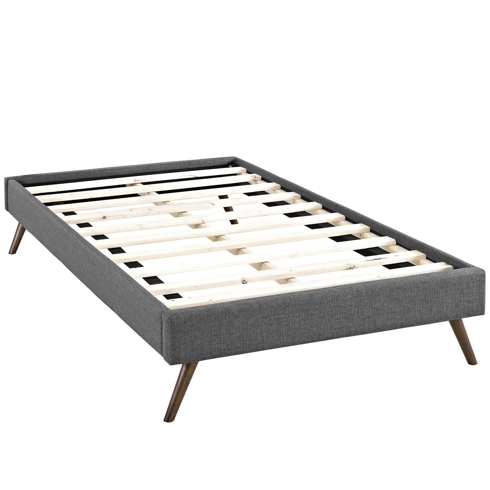 Helen Upholstered Platform Bed Color: Gray, Size: Queen
