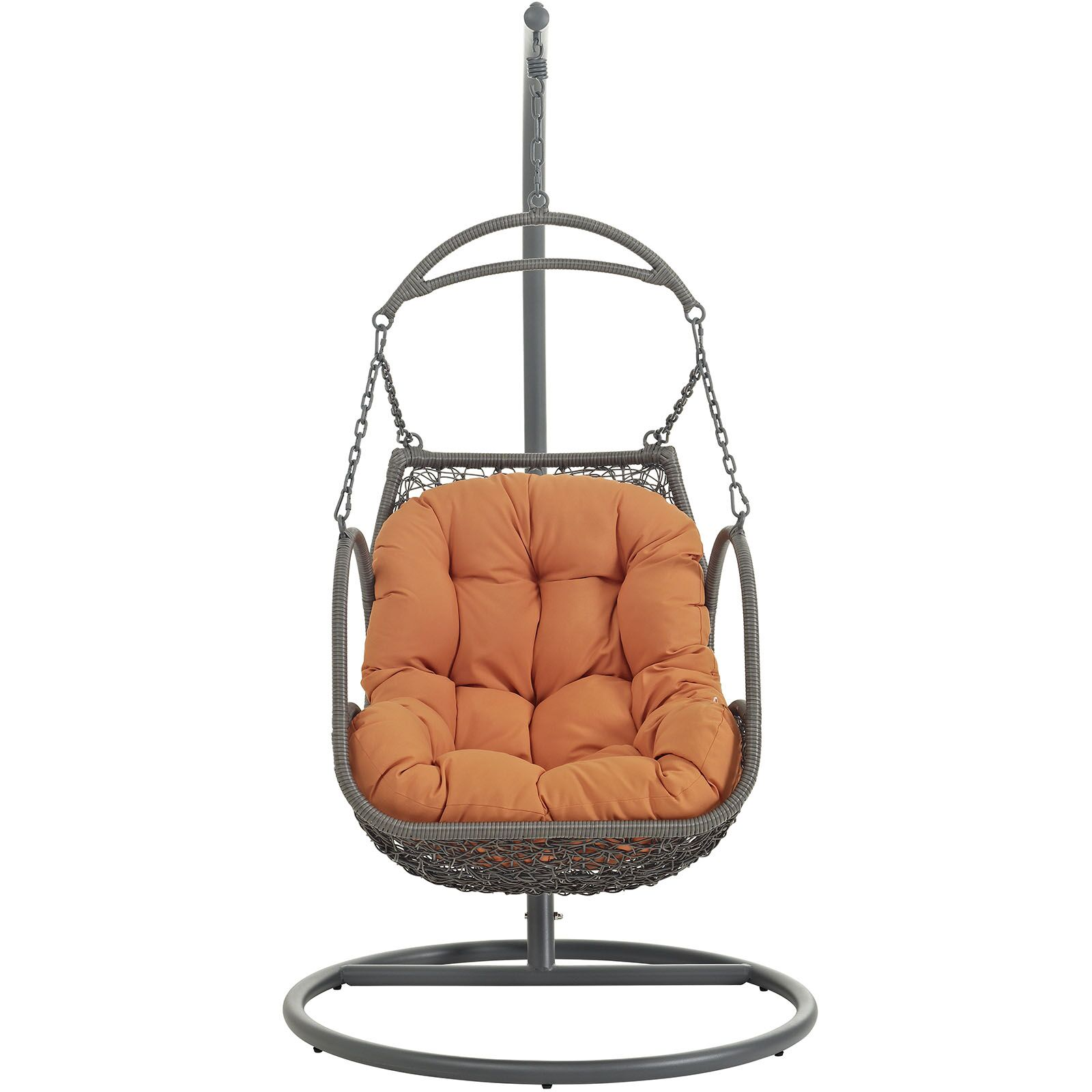 Arbor Swing Chair with Stand Color: Orange