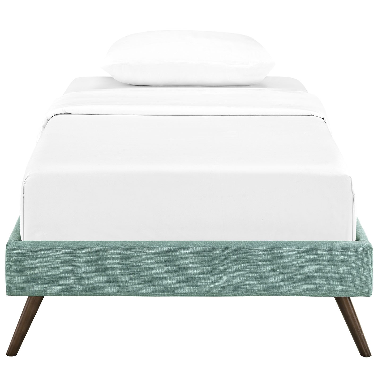 Helen Upholstered Platform Bed Size: Twin, Color: Laguna