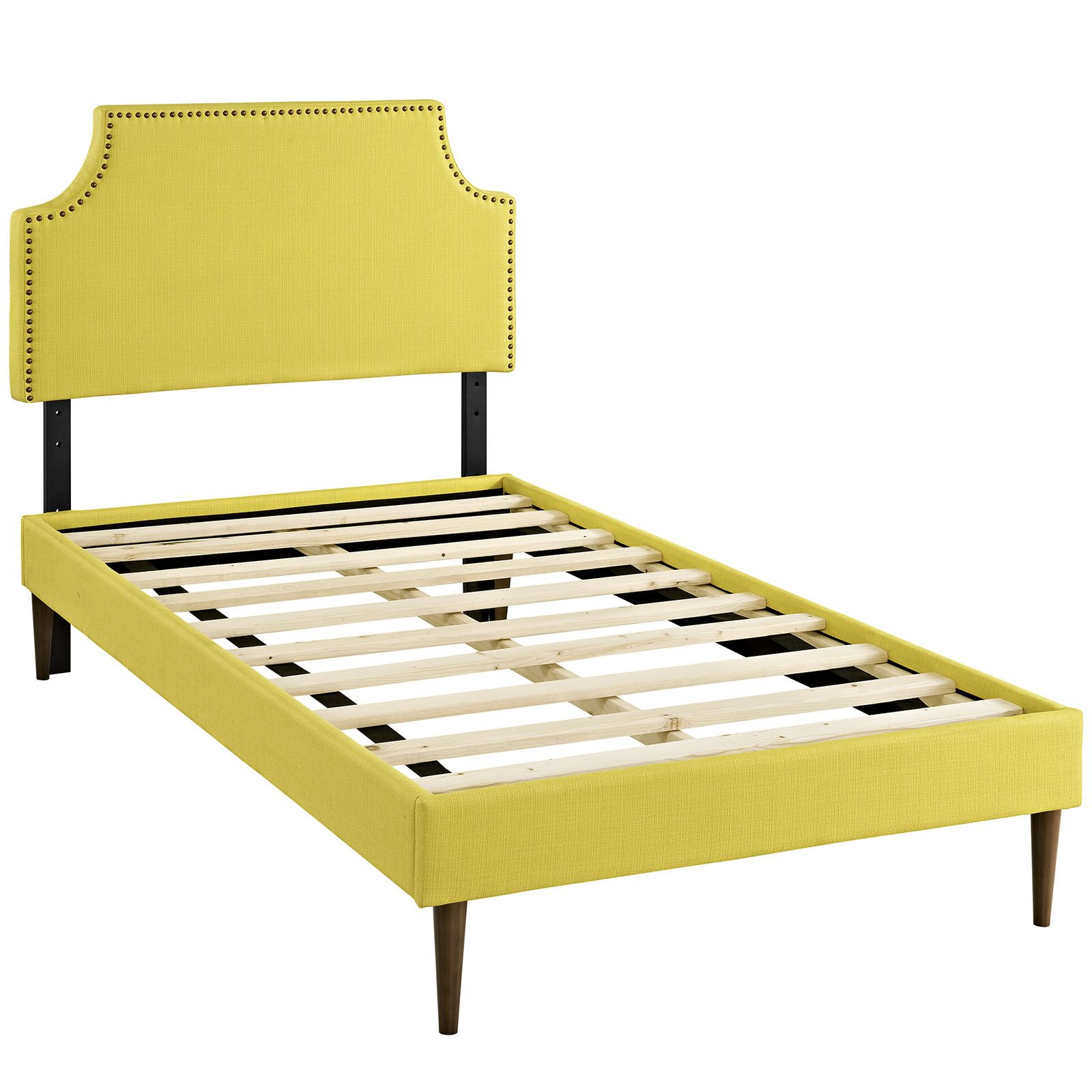 Preciado Upholstered Platform Bed Size: Twin, Color: Sunny