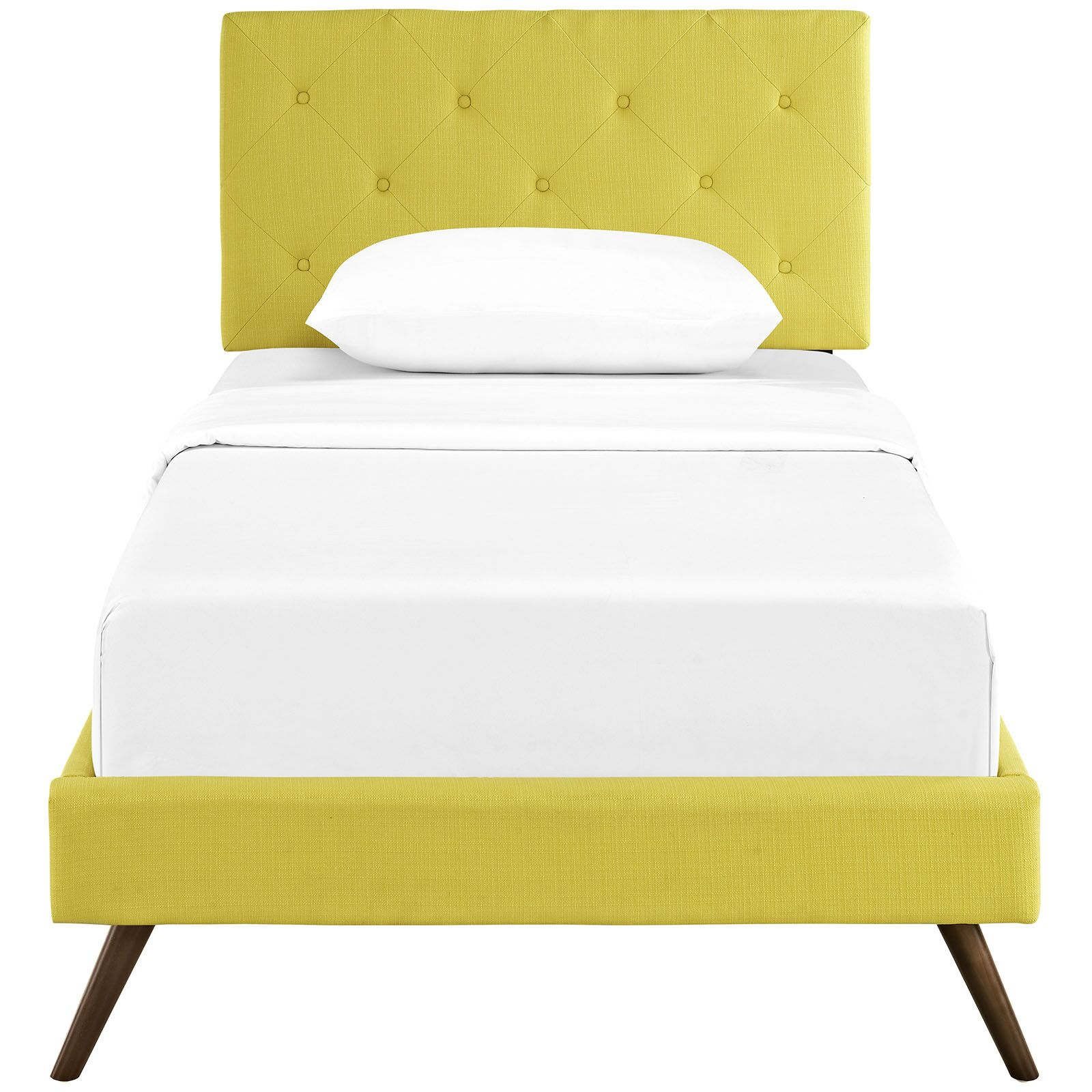 Ziemer Upholstered Platform Bed Size: Twin, Color: Sunny